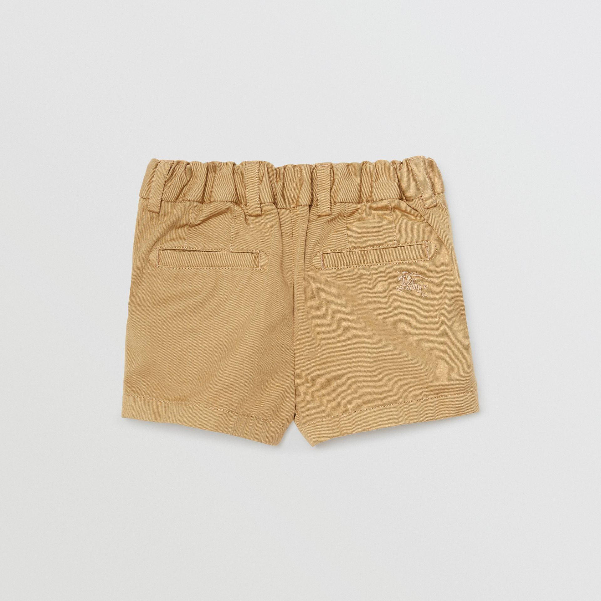 Cotton Chino Shorts in Taupe - Children | Burberry - gallery image 3
