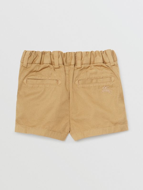 Cotton Chino Shorts in Taupe - Children | Burberry United Kingdom - cell image 3