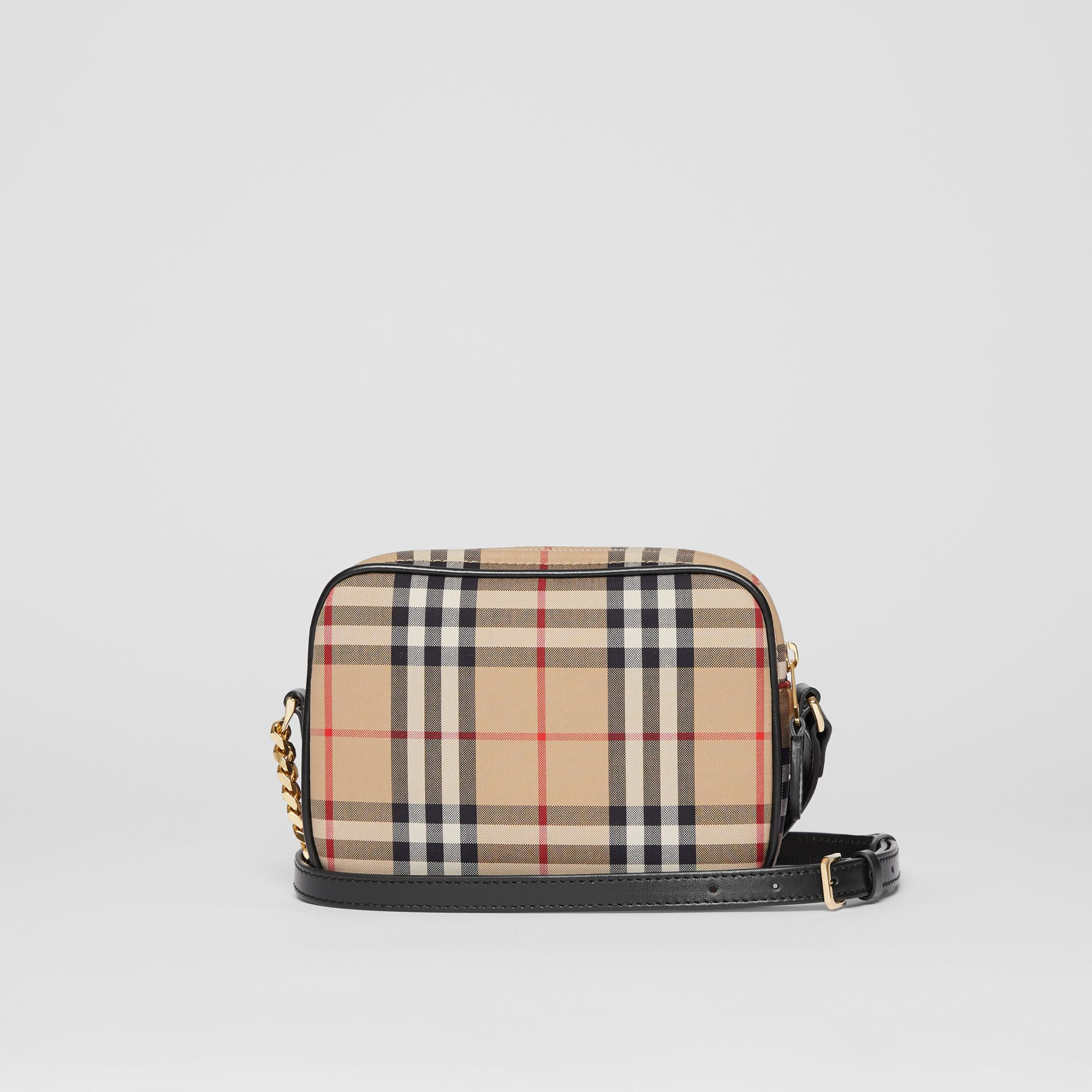 Vintage Check Cotton Camera Bag in Archive Beige | Burberry Singapore - gallery image 7