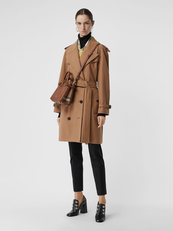 The Small Banner in Leather and House Check in Tan - Women | Burberry United States - cell image 2