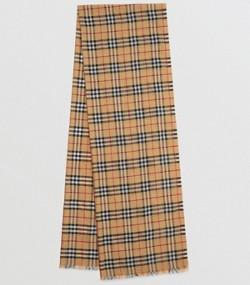 Écharpe en laine et soie mélangées à motif Vintage check métallisé (Jaune  Antique) 96caebe8e9b4