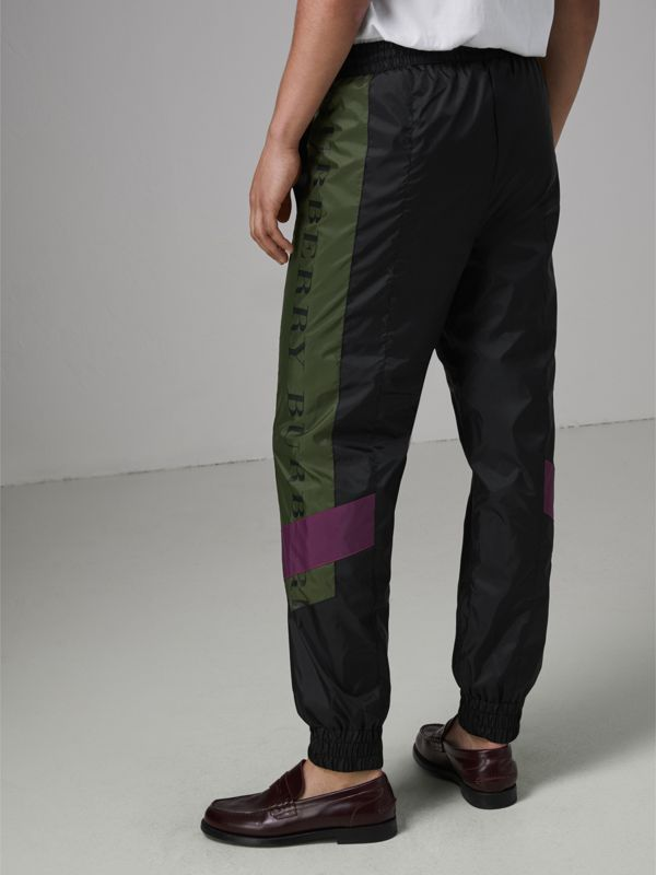 Logo Panel Shell Suit Pants in Black - Men | Burberry United Kingdom - cell image 2