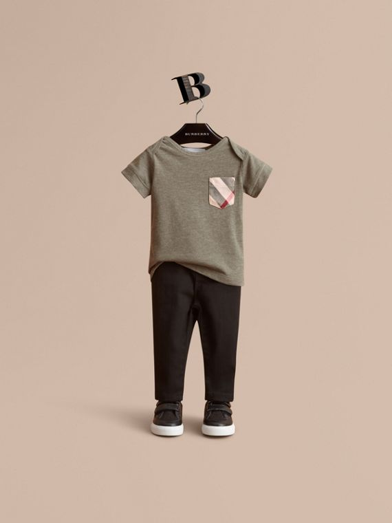 Check Pocket Cotton Jersey T-shirt | Burberry