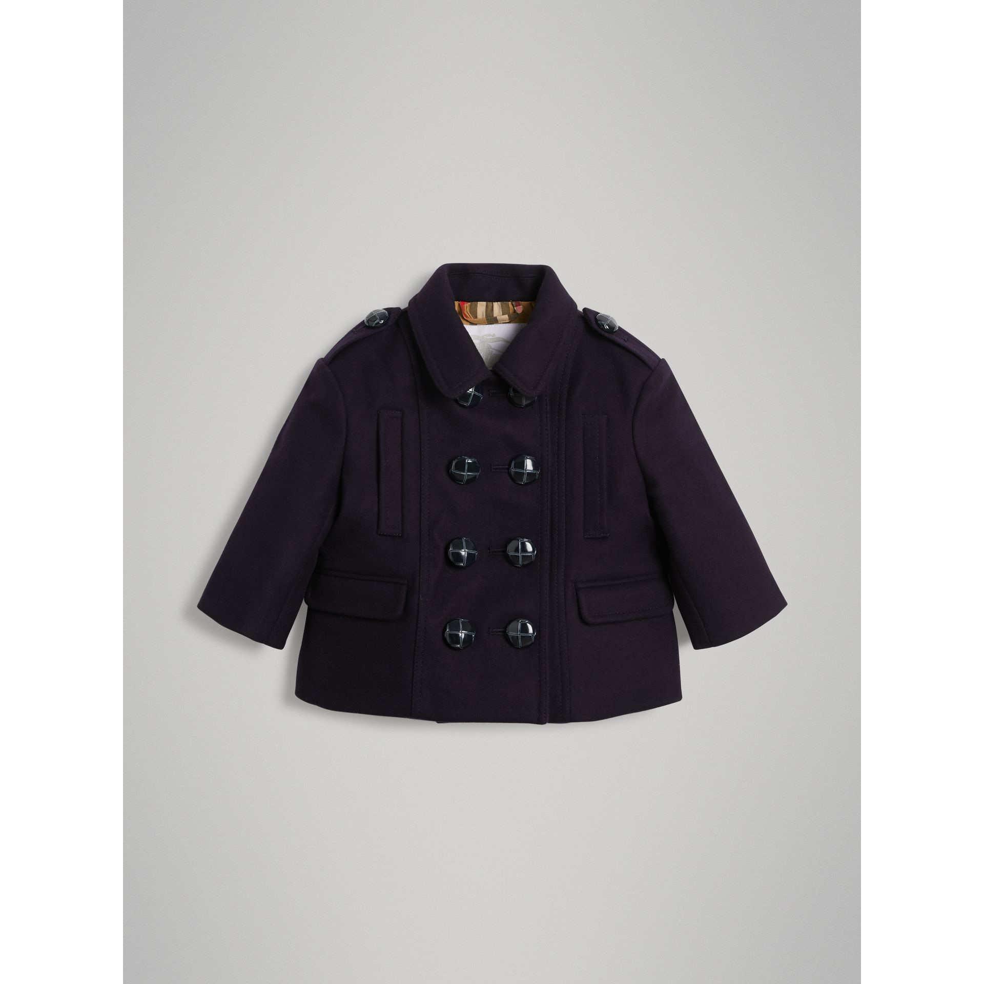 Wool Pea Coat in Navy - Children | Burberry United Kingdom - gallery image 0