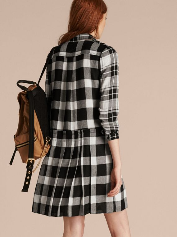 Natural white Check Kilt Dress - cell image 2
