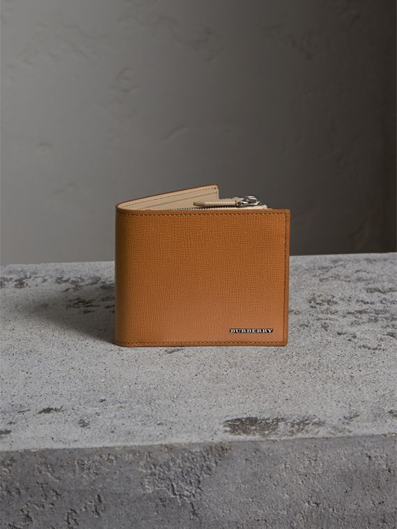 Leather International Bifold ID Coin Wallet in Tan | Burberry Hong Kong - cell image 2