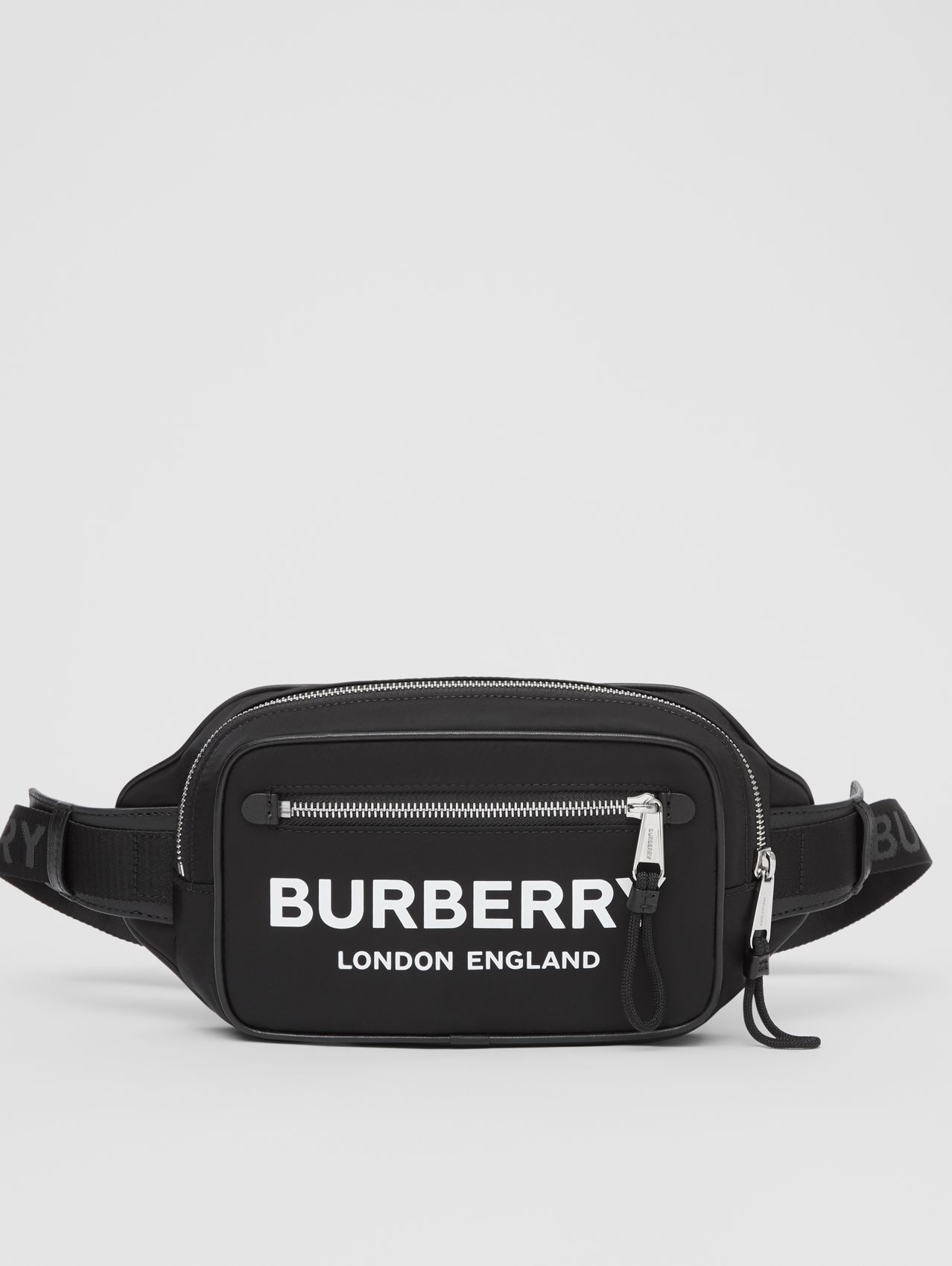 Logo Print ECONYL® Bum Bag in Black