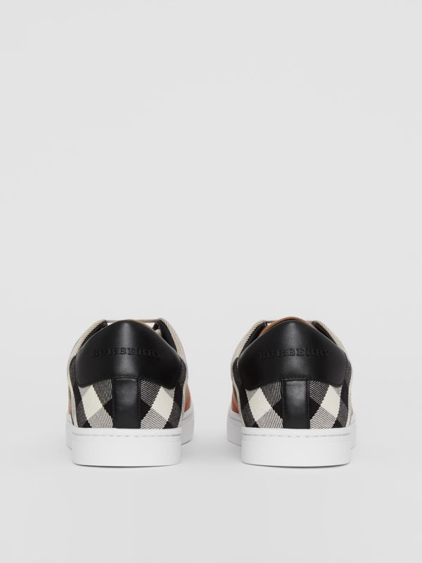 Sneakers en coton House check et cuir (Check/noir) - Homme | Burberry - cell image 3
