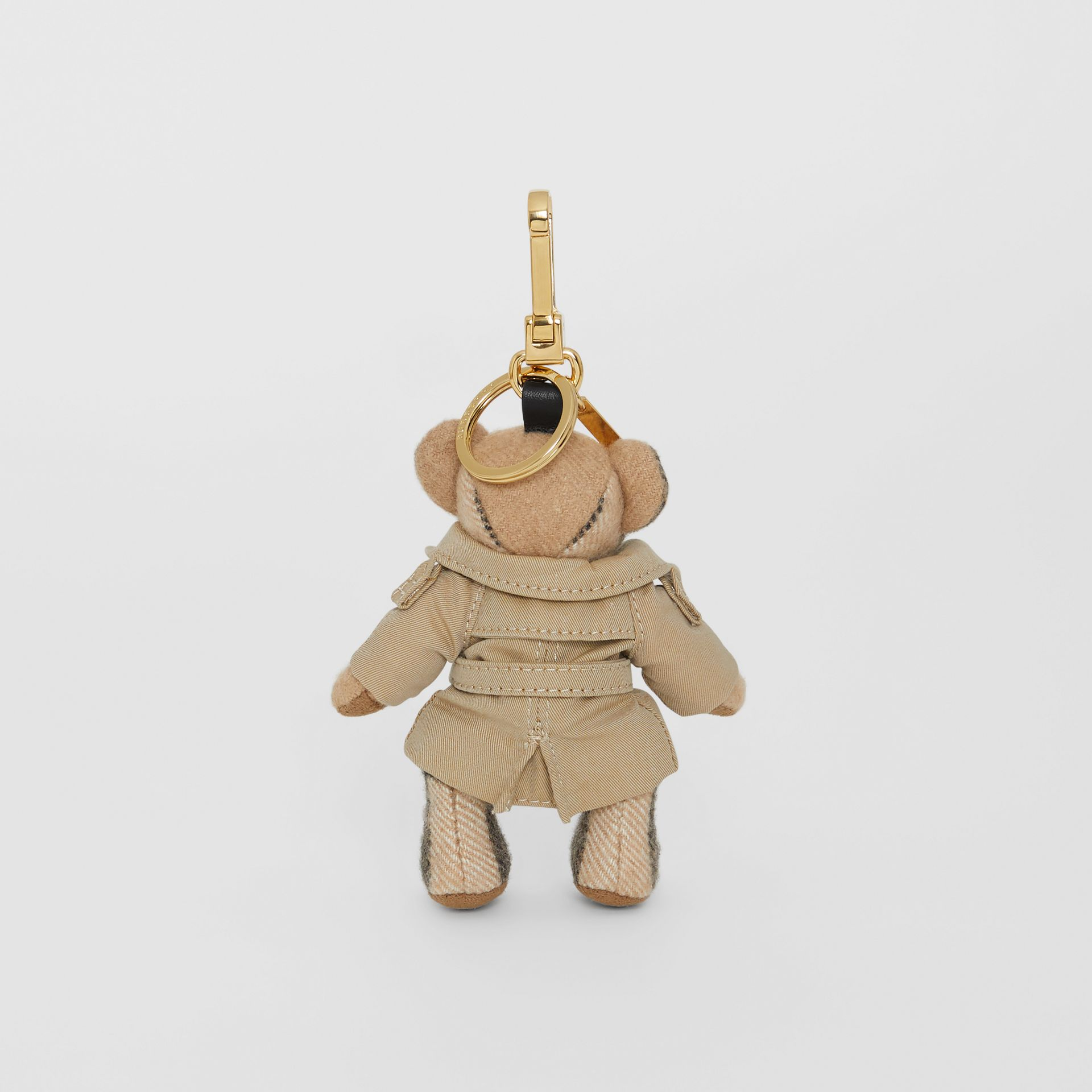 Thomas Bear Charm in Trench Coat in Camel | Burberry Singapore - gallery image 3