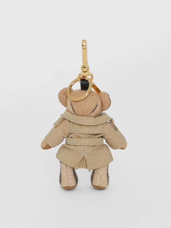 Thomas Bear Charm in Trench Coat in Camel | Burberry Singapore - cell image 3