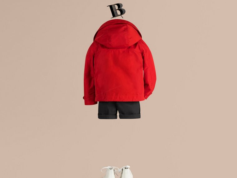 Hooded Field Jacket in Military Red - Boy | Burberry Singapore - cell image 2