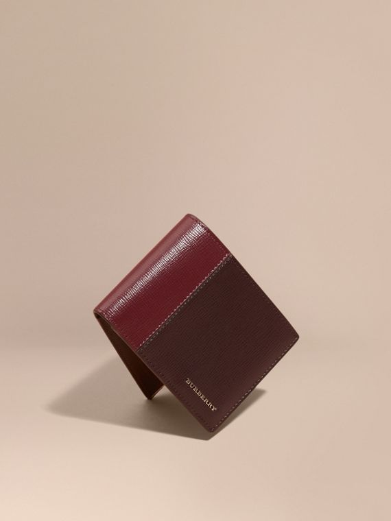 Panelled London Leather Folding Wallet