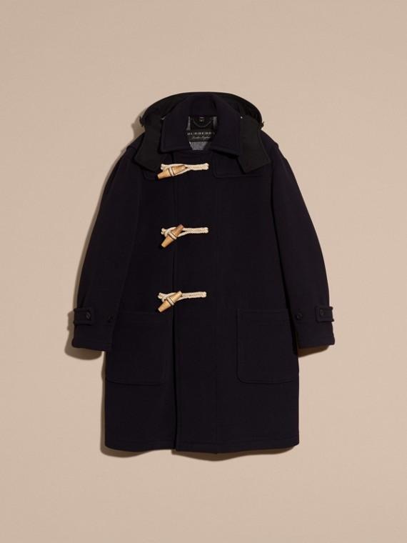 Navy Montgomery in misto di lana doppio con cappuccio - cell image 3