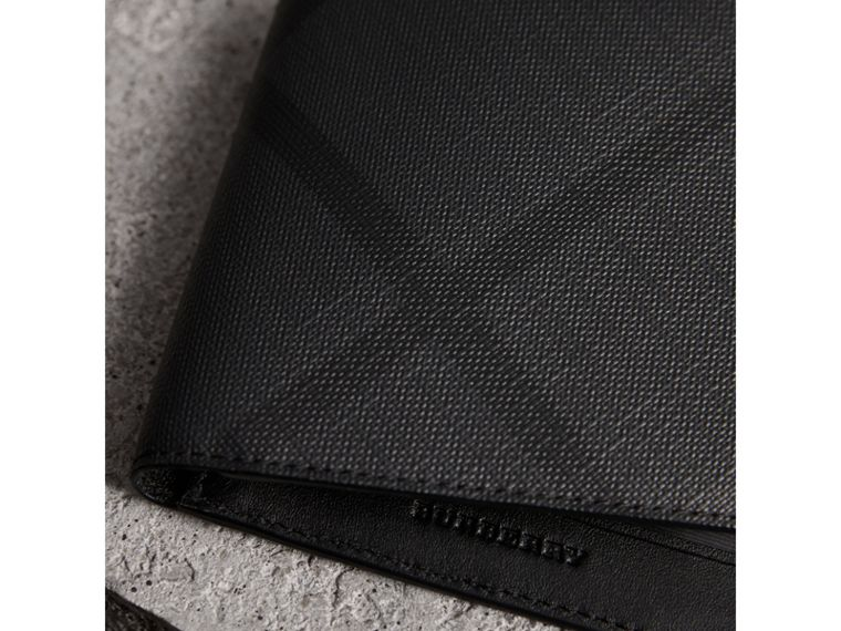 London Check ID Wallet in Charcoal/black - Men | Burberry Australia - cell image 1