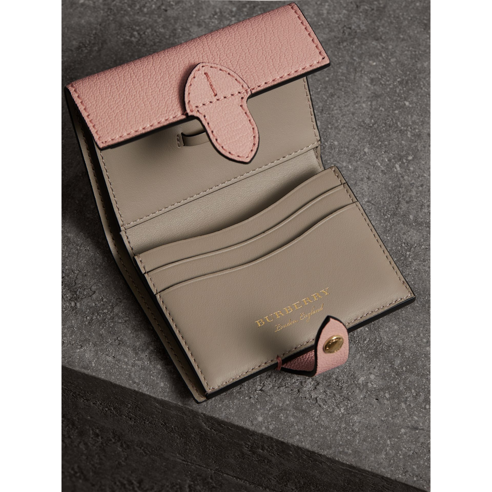 Equestrian Shield Leather Continental Wallet in Pale Ash Rose - Women | Burberry - gallery image 3