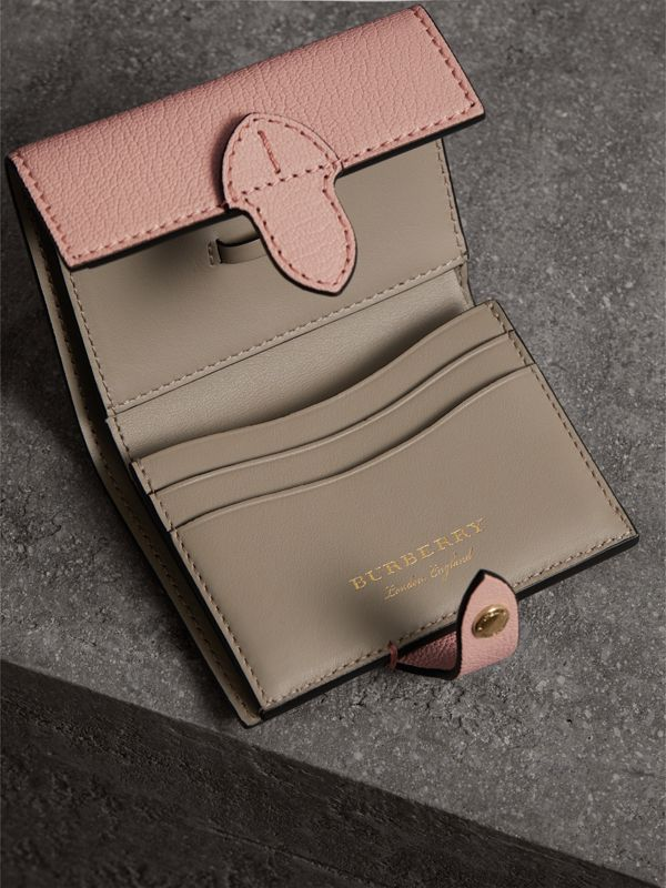 Equestrian Shield Leather Continental Wallet in Pale Ash Rose - Women | Burberry - cell image 3