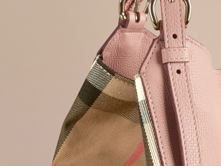 The Small Canter in Leather and House Check in Pale Orchid - Women | Burberry - cell image 4