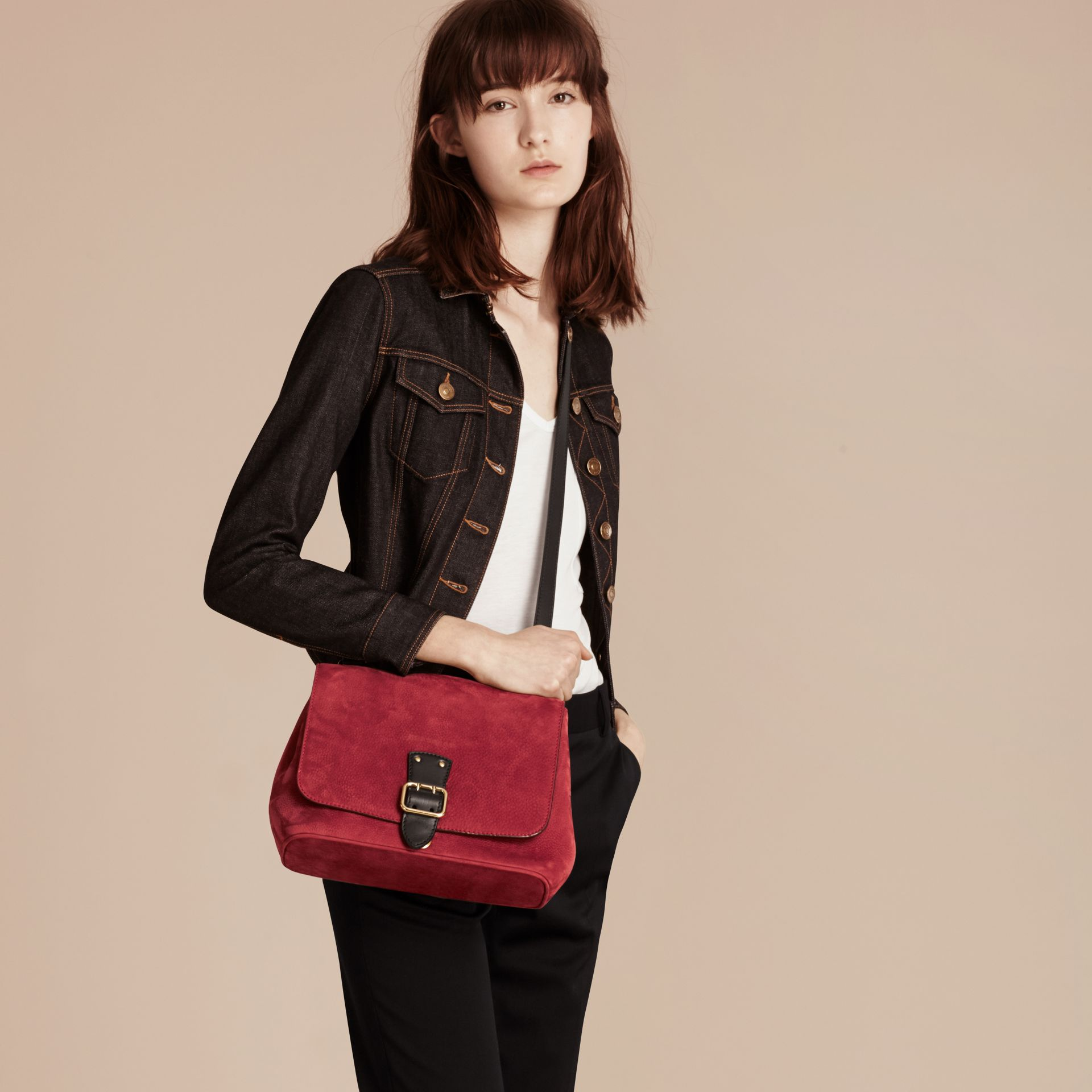 Cherry Grainy Nubuck Crossbody Bag - gallery image 3