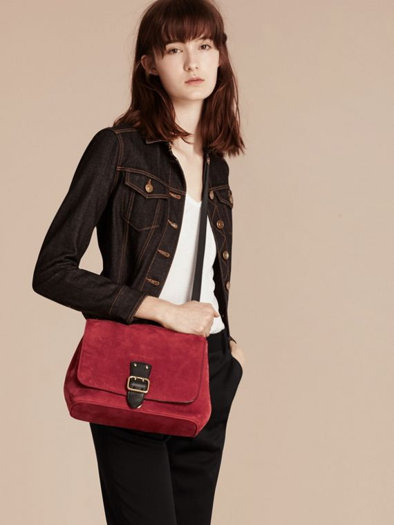 Cherry Grainy Nubuck Crossbody Bag - cell image 2