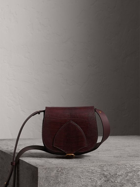 The Satchel in Lizard in Dark Mahogany
