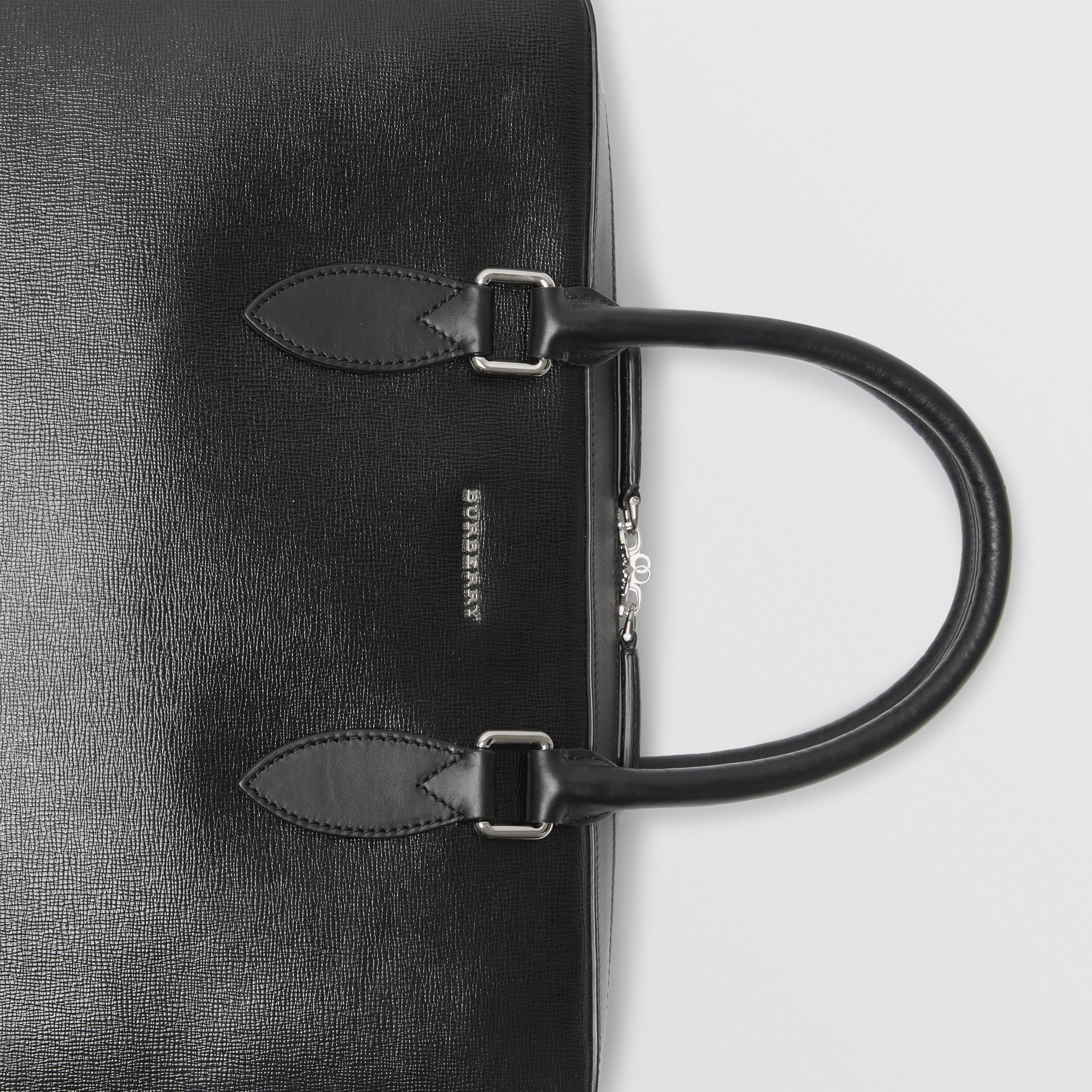 London Leather Briefcase in Black - Men | Burberry United Kingdom - gallery image 1