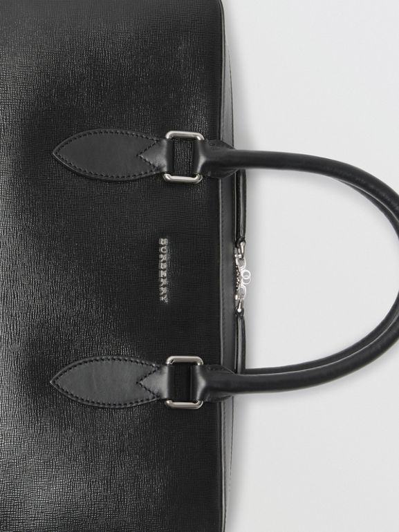 London Leather Briefcase in Black - Men | Burberry United States - cell image 1