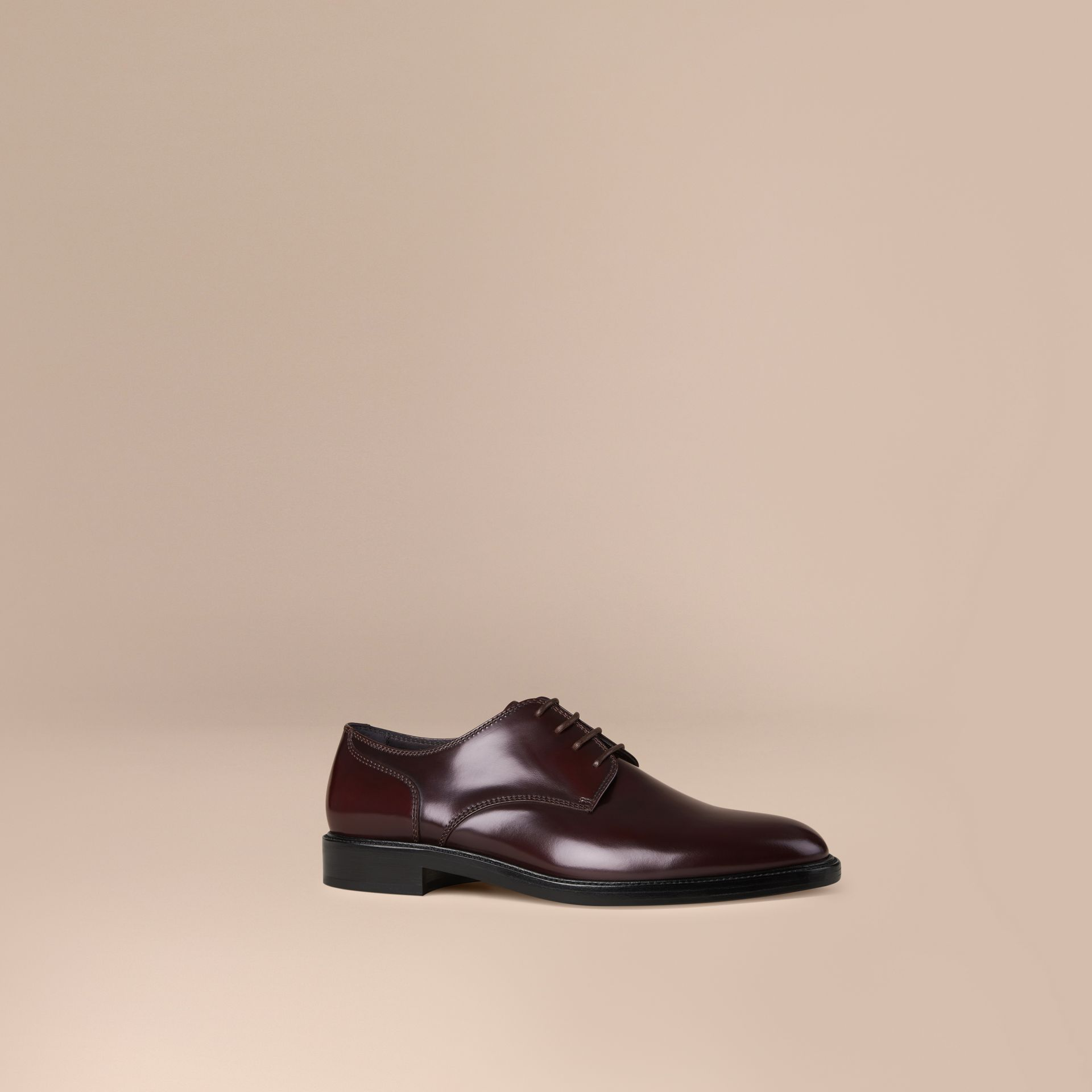 Oxblood Leather Derby Shoes Oxblood - gallery image 1