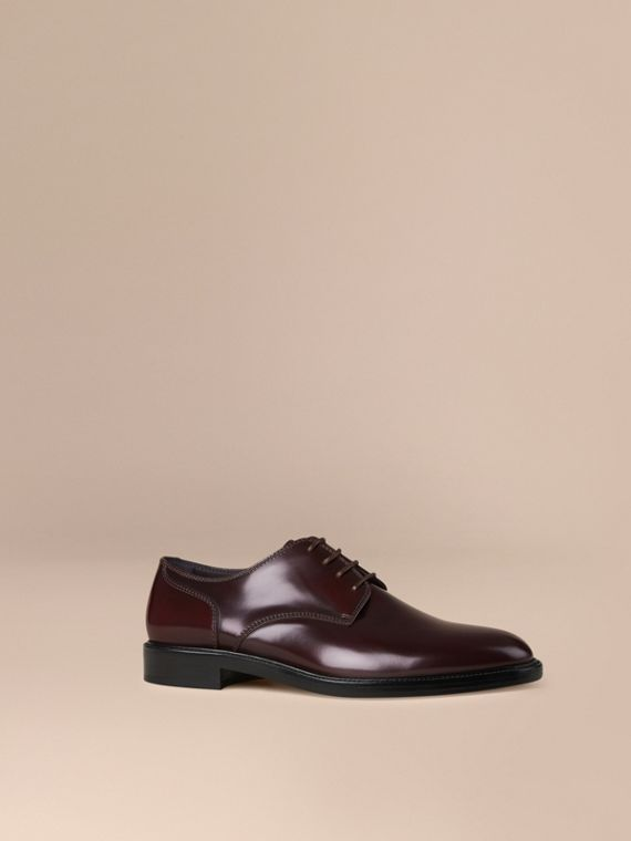 Leather Derby Shoes Oxblood