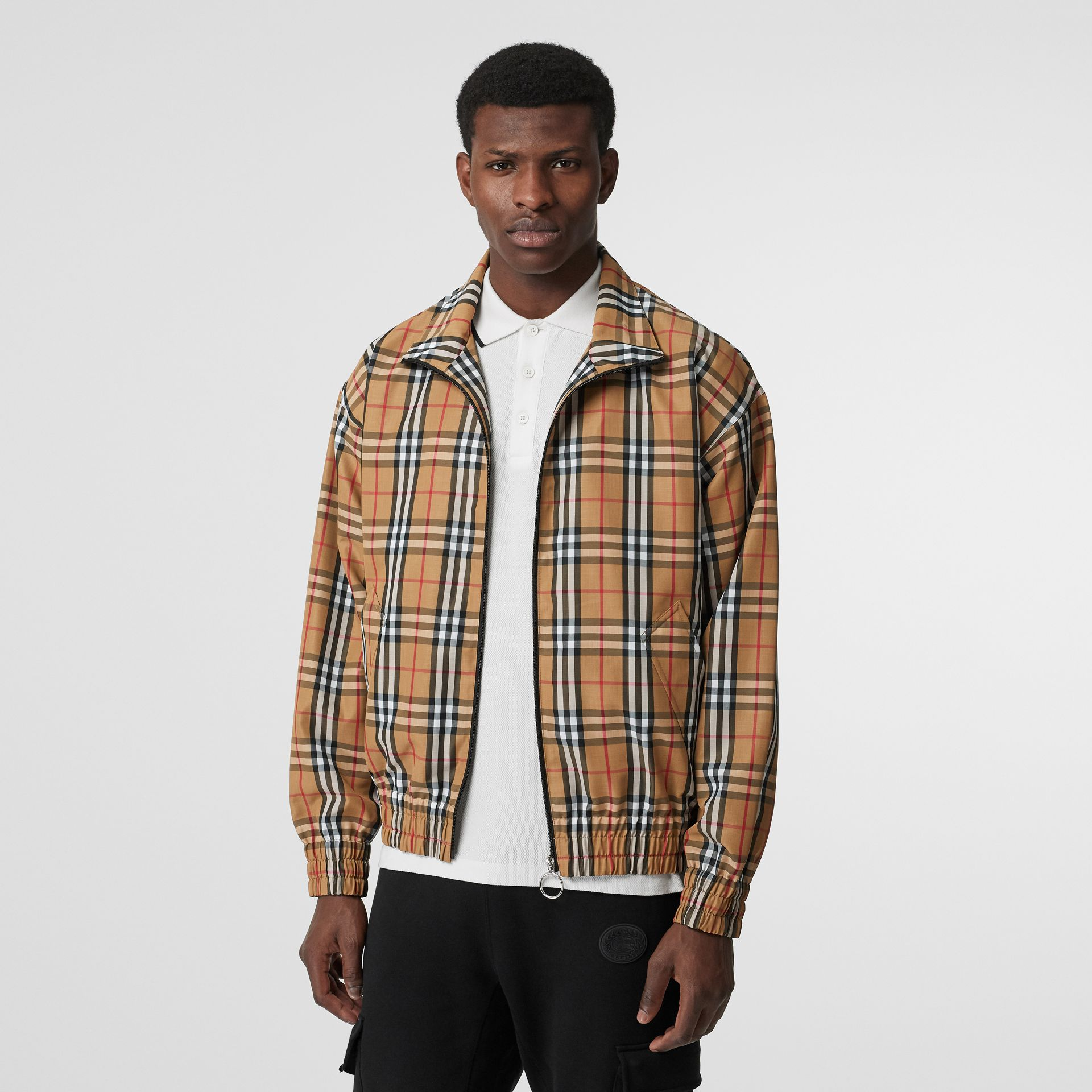 Vintage Check Lightweight Jacket in Yellow - Men | Burberry Australia - gallery image 5