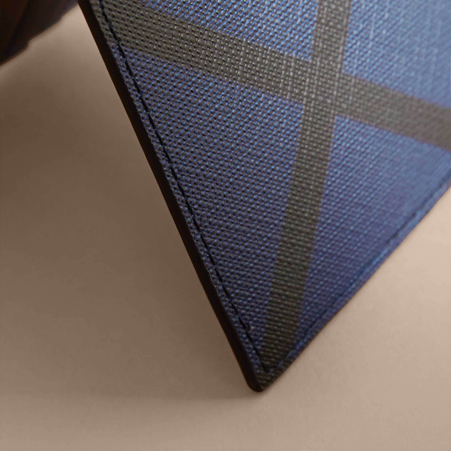 London Check Bifold Wallet in Bright Lapis - Men | Burberry - gallery image 2