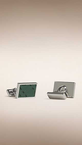 Check Rectangular Cufflinks