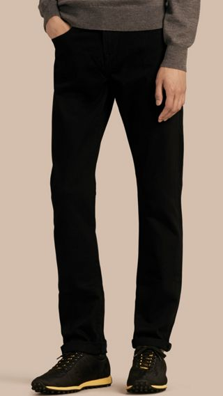 Straight Fit Stretch-denim Jeans