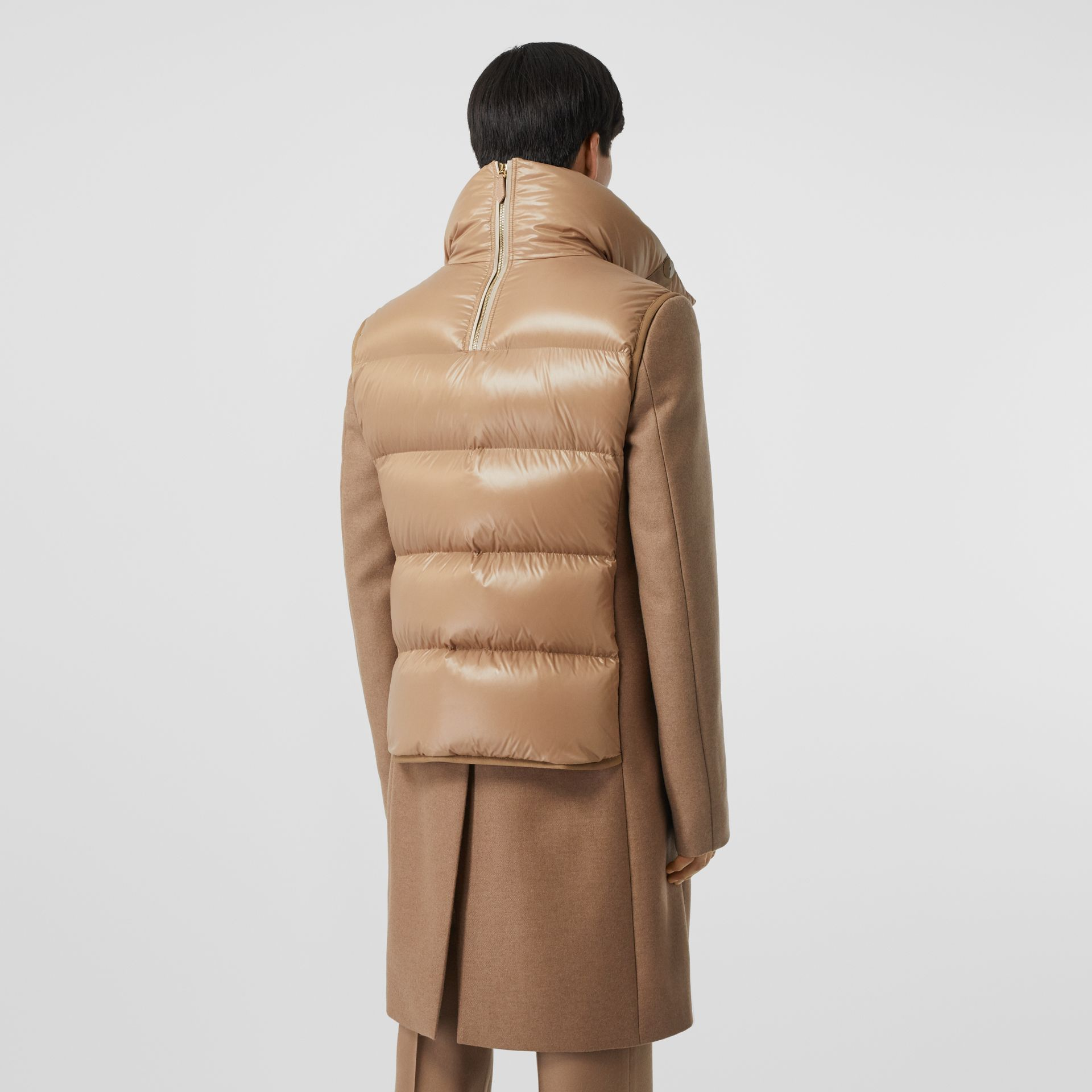 Down-filled Gilet Detail Camel Hair Tailored Coat - Men | Burberry United States - gallery image 2