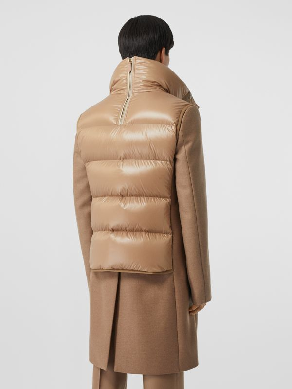 Down-filled Gilet Detail Camel Hair Tailored Coat - Men | Burberry - cell image 2