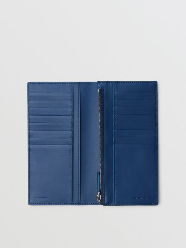 Grainy Leather Continental Wallet in Bright Ultramarine - Men | Burberry United States - cell image 3