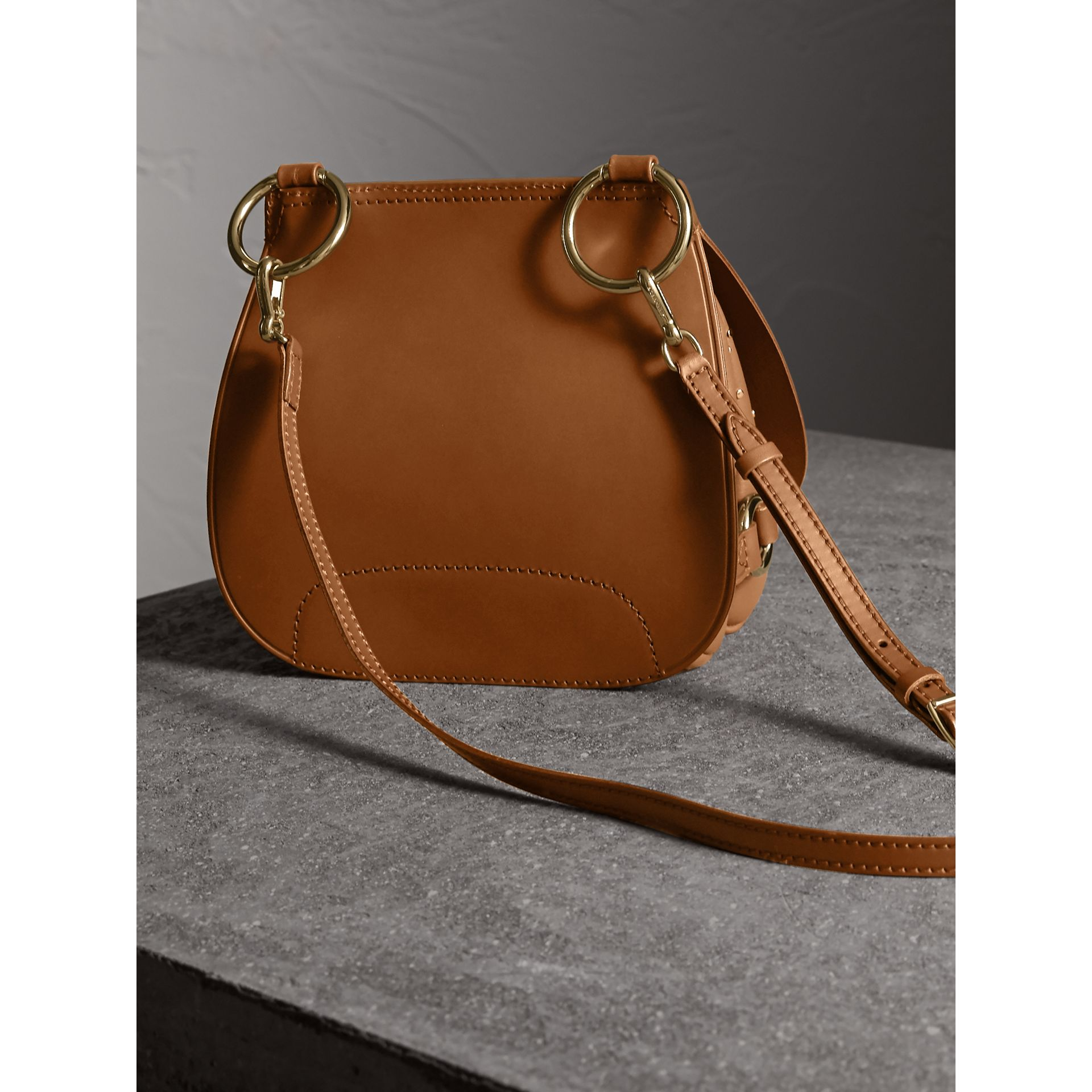 The Bridle Bag in Leather and Rivets in Tan - gallery image 5