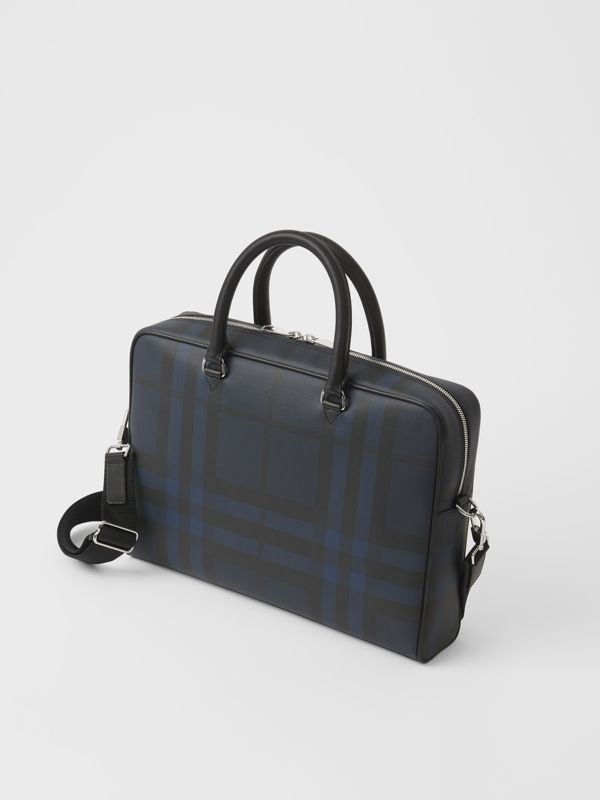Large London Check Briefcase in Navy/black - Men | Burberry United States - cell image 2