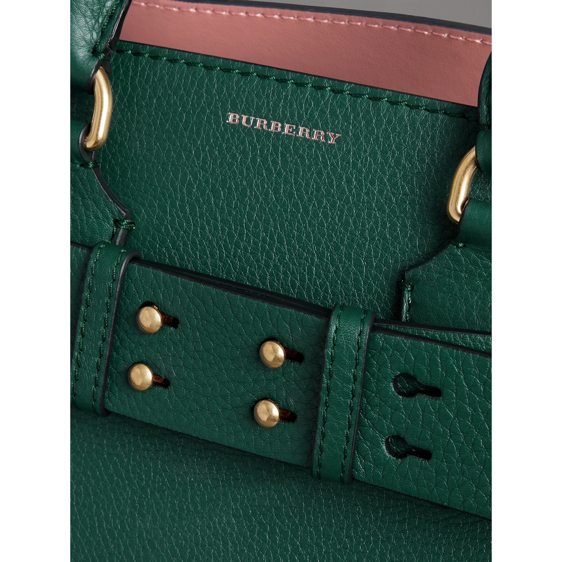 The Small Leather Belt Bag in Dark Cyan - Women | Burberry Canada - gallery image 1