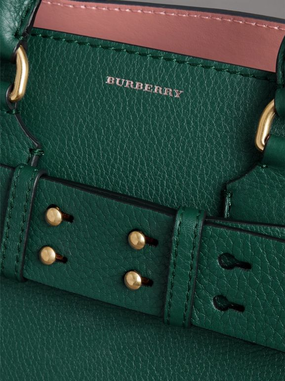 The Small Leather Belt Bag in Dark Cyan - Women | Burberry Australia - cell image 1
