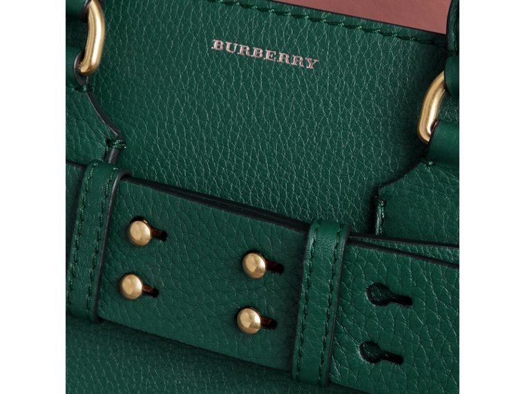 The Small Leather Belt Bag in Dark Cyan - Women | Burberry United States - cell image 1