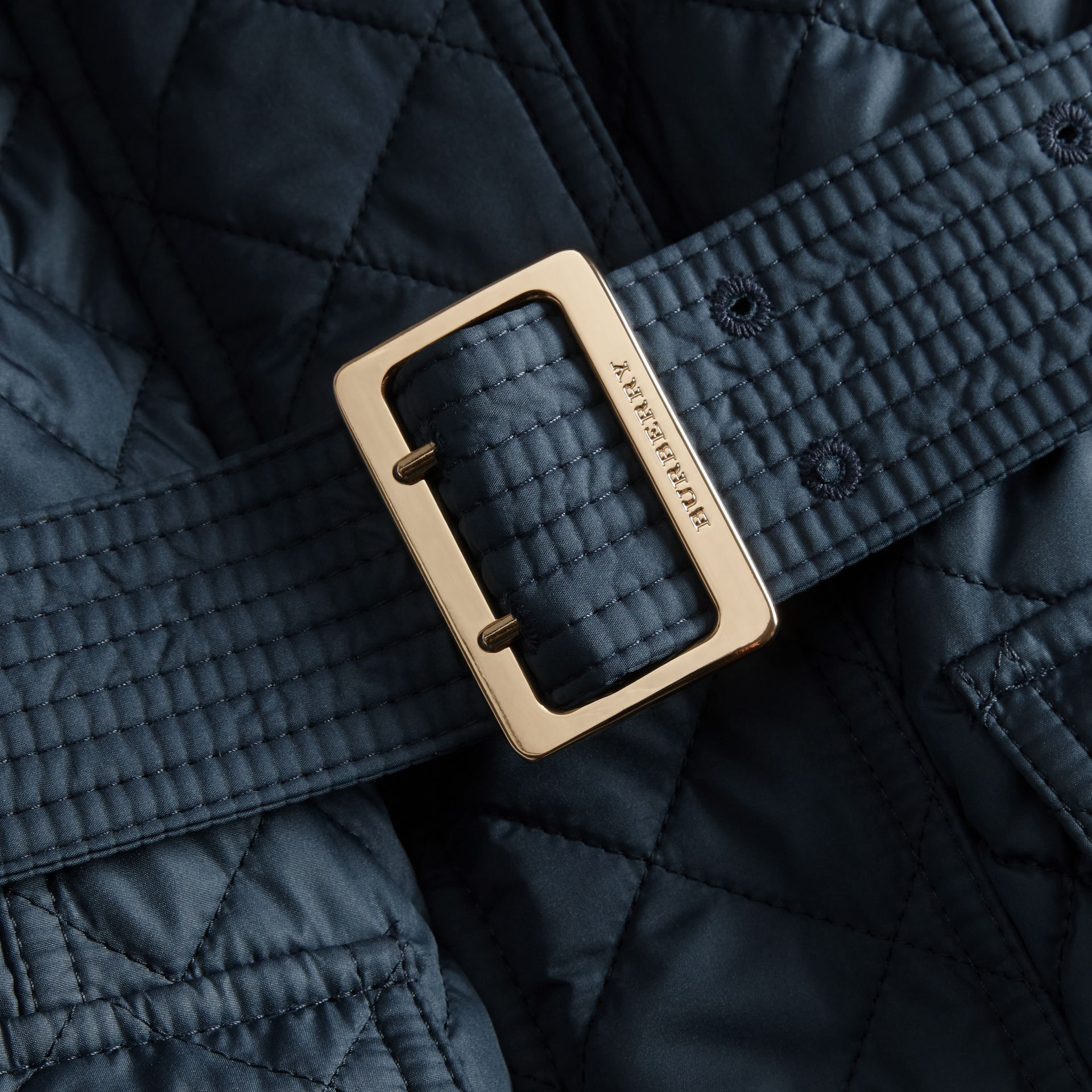 Ink blue Buckle Detail Technical Field Jacket Ink Blue - gallery image 2