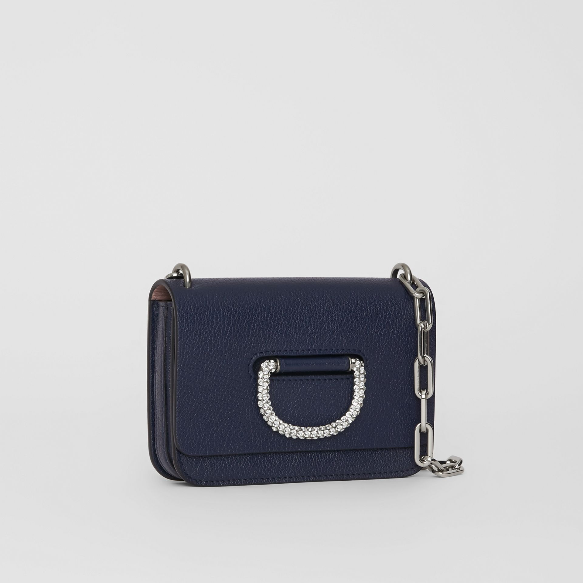The Mini Leather Crystal D-ring Bag in Regency Blue - Women | Burberry - gallery image 6