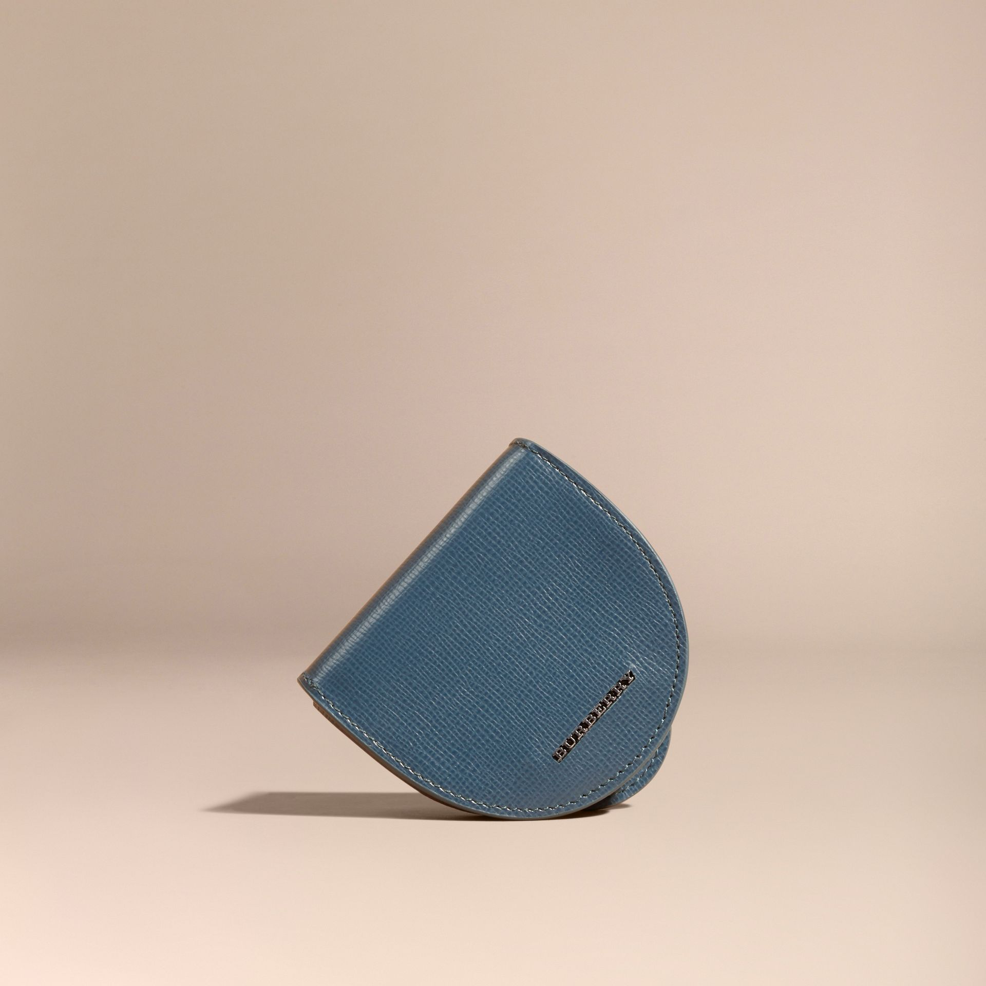 London Leather Coin Case in Mineral Blue - gallery image 6