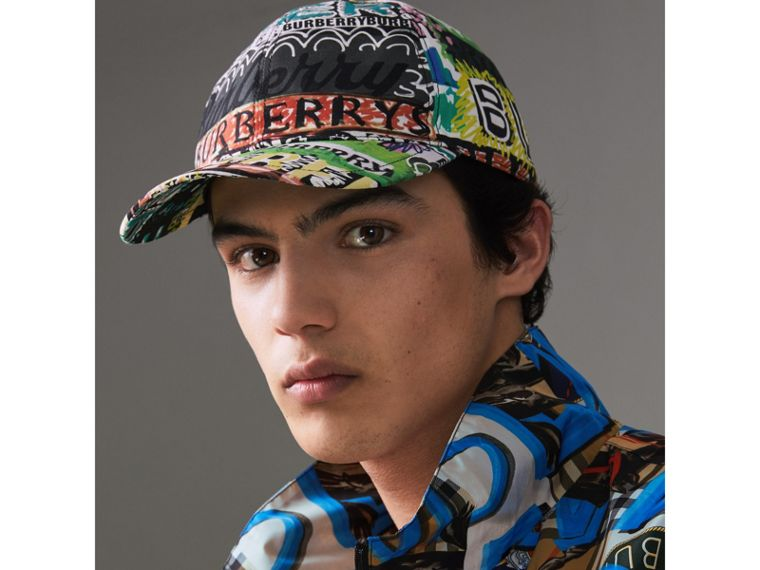 Archive Logo Print Baseball Cap in Multicolour | Burberry - cell image 2