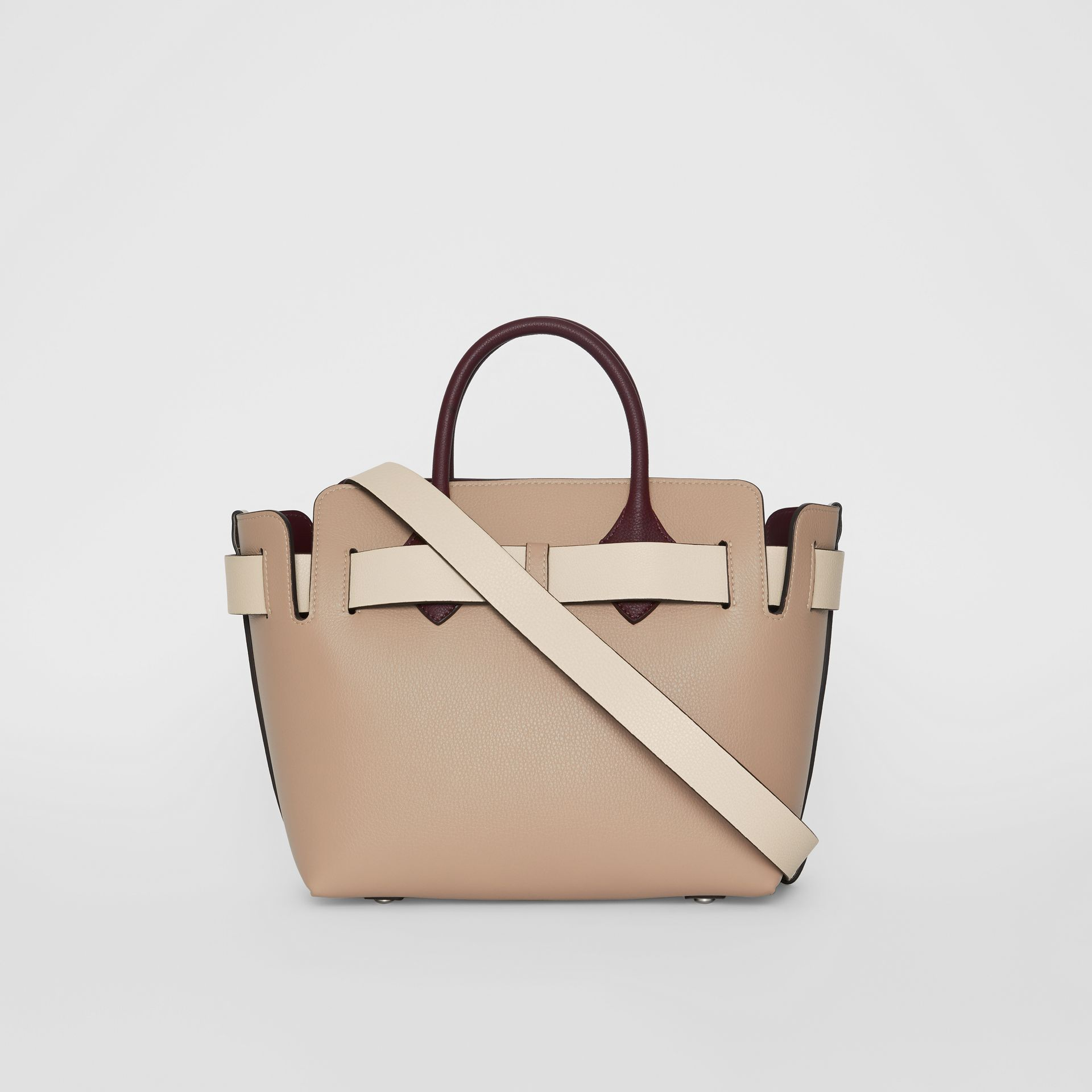 The Small Tri-tone Leather Triple Stud Belt Bag in Limestone/pale Drift - Women | Burberry - gallery image 7