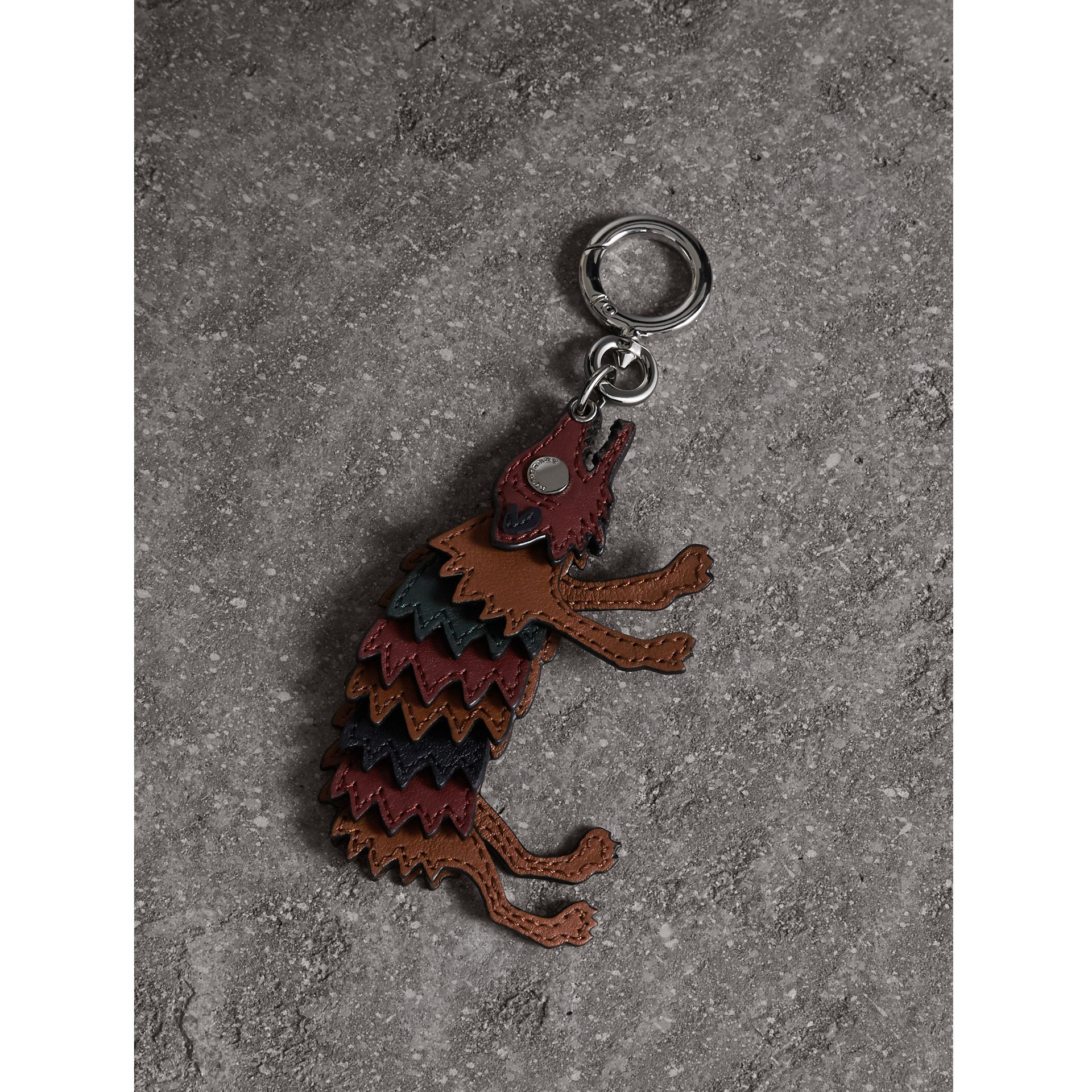 Beasts Leather Key Ring in Antique Red - Men | Burberry - gallery image 1