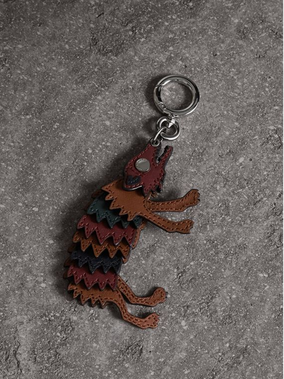 Beasts Leather Key Ring - Men | Burberry Singapore