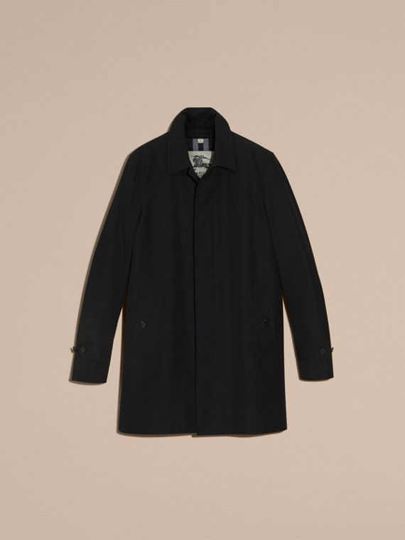 Black Cotton Gabardine Car Coat Black - cell image 3