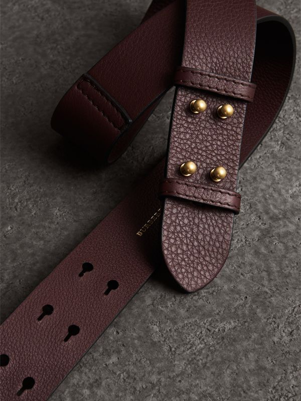 The Small Belt Bag Grainy Leather Belt in Deep Claret - Women | Burberry Australia - cell image 2