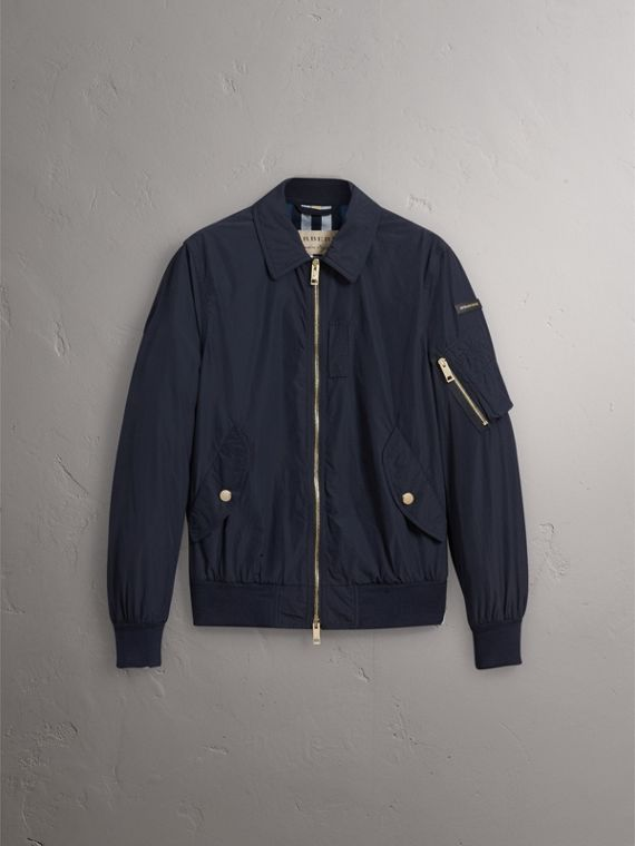 Seersucker Bomber Jacket - Men | Burberry Australia - cell image 3